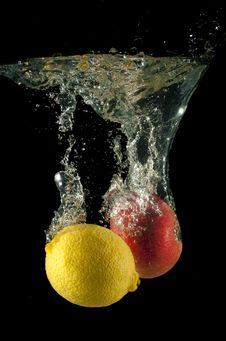 Lemon And Apple Royalty Free Stock Image