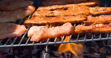 Free Pork Barbecue Grill With Cutlets Stock Photos - 13918473