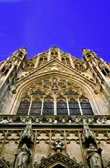 Gothic Cathedral - Votivkirche Royalty Free Stock Image