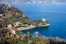 Seaside Villas Near Portofino Stock Photo