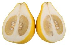 Free Two Halves Of Fruit Pomelo Lie Nearby Royalty Free Stock Photography - 13919427