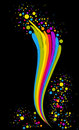 Free Rainbow Wave And Dots Royalty Free Stock Image - 13923796