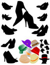 Free Silhouettes Of Shoes Stock Photography - 13926322