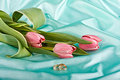 Free Two Rings And Tulips Stock Photo - 13929170