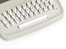 Free Retro Typewriter Keyboard Stock Photos - 13920393