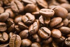 Free Rich Whole Roasted Coffee Beans Royalty Free Stock Image - 13920446
