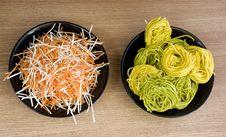 Pasta Vs Salad Stock Photo
