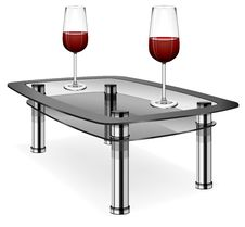 Free Wine Glasses On Table Royalty Free Stock Image - 13920886