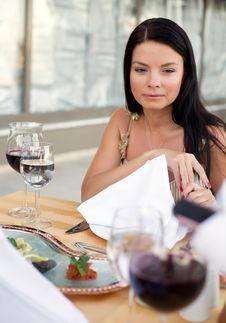 Romantic Dinner Royalty Free Stock Image