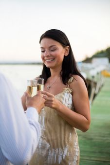 Free Champagne Toast Royalty Free Stock Images - 13921789