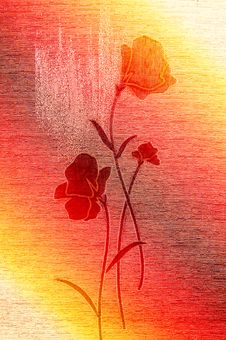 Free Wonderful Poppies On The Canvas. Stock Photography - 13921812