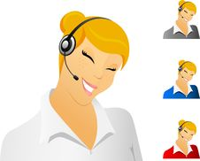 Free Smiling Call Center Representative Stock Image - 13923041