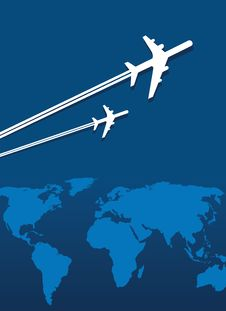 Planes Traveling The World Royalty Free Stock Photography
