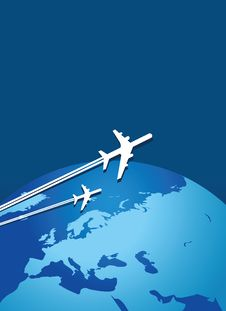 Planes Traveling The World Stock Image