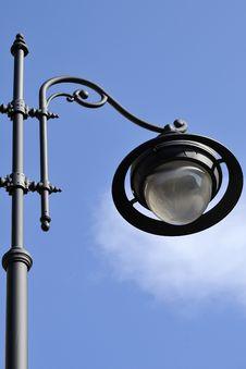 Closeup With Street Lamp Stock Photo