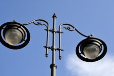 Closeup With Street Lamp Royalty Free Stock Images