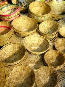 Free Cane Baskets Stock Photo - 13923600