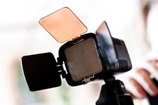 Scatterer For A Videocamera Stock Photo