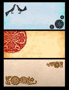 Old Paper Collection With Ornaments Royalty Free Stock Images