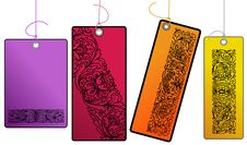 Free Four Colored Ornamental Tags Royalty Free Stock Photo - 13923815