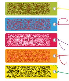 Free Colored Ornamental Tags Stock Photography - 13923822