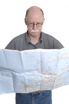 Free Men With Map Stock Image - 13924121