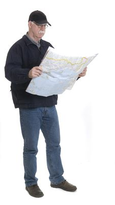 Free Men With Map Royalty Free Stock Photo - 13924165