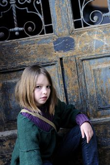 Free Beautiful Model Portrait And Door In Background Royalty Free Stock Photo - 13924855