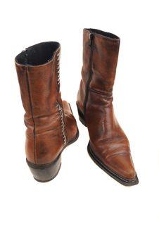 Free Hig Heels Half Boot Royalty Free Stock Photos - 13924938