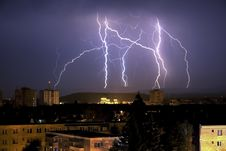 Free Night City Lightnings Stock Photography - 13925332