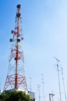 Telecommunication Pillar Royalty Free Stock Images