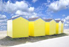 Free Yellow Beach Huts Royalty Free Stock Photo - 13926055