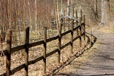 Free Barrier At Forest Road Stock Photos - 13926713