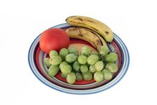 Free White Grapes, Bananas And Tomato Stock Photography - 13927162