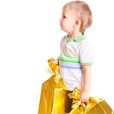 Child With Gifts Stock Photos
