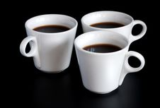 Free Three Coffee Cups Royalty Free Stock Photo - 13927855