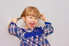 Free Little Girl Rejoices Stock Photography - 13927942