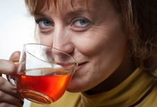 Free Woman With A Cup Tea Stock Image - 13927951