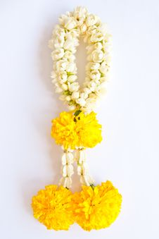 Native Thai Style Flower Garland Stock Photo