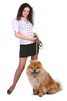 Free Young Woman With  Dog Royalty Free Stock Photo - 13928985