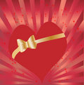 Free Heart With Golden Bow Royalty Free Stock Image - 13930666