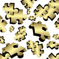 Free Gold Puzzle Royalty Free Stock Image - 13931356