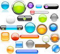 Free Big Set Of Color Web Buttons. Royalty Free Stock Images - 13931419