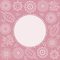 Free Pink Floral Frame. Royalty Free Stock Photography - 13932597