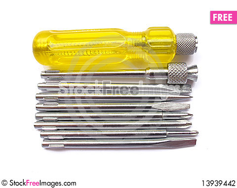 Free Screw Driver Set Stock Photography - 13939442