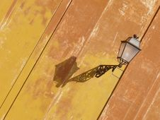 Old Stylish Lantern. Rome. Italy Royalty Free Stock Photos