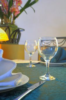 Free Glass On The Table. Royalty Free Stock Photography - 13931027
