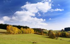 Free Autumny Scenery With Clouds Stock Images - 13931304
