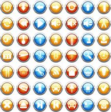 Free Big Collection Of Color Web Buttons. Royalty Free Stock Image - 13931406