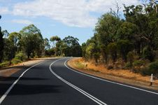 Free Road Passing Through The Bush Royalty Free Stock Photos - 13931408